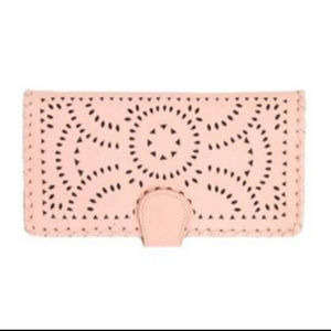 Cleobella Mexicana Wallet Blush Rose Pink Clutch